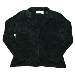 Apostrophe Vintage Green Button-Up Cardigan